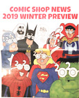 COMIC BOOK SHOP NEWS WINTER PREVIEW 2019 NEWSPAPER PROMO VG SHIPS FOLDED
