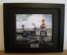 Easy Rider Harley Chopper Lady Biker Signed Ltd Ed Motorcycle Art Print by JG
