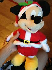 NEW DISNEY PLUSH ANIMATED SINGING CHRISTMAS MICKEY MOUSE WITH FREE SHIPPING