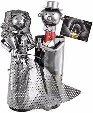 BRUBAKER Porte-bouteille de champagne Couple marié Mariage - Carte de vœux incl.