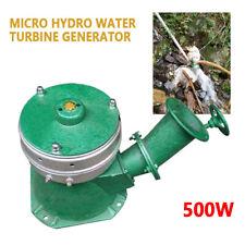500W Micro Hydro Water Turbine Electric Generator Hydroelectric Power NEW