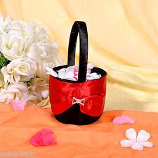 Black Satin Flower Girl Baskets -GB20d