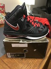 NIKE LEBRON 8 PS PLAYOFF BLACK RED WHITE 441946-001 SIZE 9.5 W Box!!