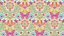 Fabric 100% cotton, Makower UK. Papillion Butterfly Orange 1760/N