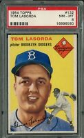1954 Topps Dodgers Baseball | Tommy Lasorda ROOKIE RC Card # 132 | PSA 8 NM-MINT