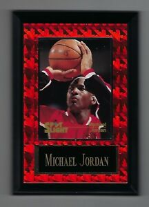 "Vintage 1994-1995 6.5"" x 4.5"" Card Plaque Michael Jordan Bulls Spotlight #3"