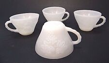 4 ViNTAGE ANCHOR HOCKiNG MiLK GLASS GRAPE DESiGN PUNCH BOWL REPLACEMENT CUP CUPS