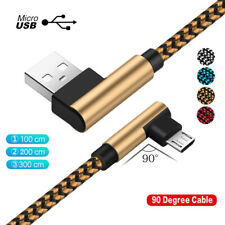 3/6/10FT 90 Degree Micro USB Fast Charging Charger Data Cable For Android Phones