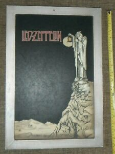 Vintage 2005 Rare  Led Zeppelin Stairway To Heaven 3 Dimensional Chalkboard