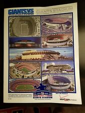 N.Y. GIANTS 2009 Giant stadium final game program & 2008 Super Bowl XLll program