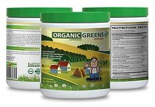 Liver Super Health - Organic Greens Powder Berry 9.7oz - Greens Supplement 1C