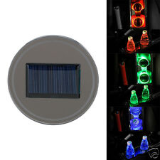 2017 Auto Car Solar Cup Holder Bottom Pad LED Light Cover Trim Atmosphere Lamp