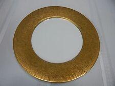 "Vintage! D.or"" Studios 18K Gold Inlay China Porcelain Dinner Plate"