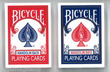 Mandolin 809 Red & Blue Back 2 Deck Set Bicycle Playing Cards Poker Size USPCC