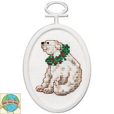 Cross Stitch Kit ~ Janlynn Christmas Polar Bear w/Frame #1143-46