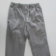 Lacoste Mens Pants Grey Size XS W33 L32 Straight Zip Fly Stretch Waistband