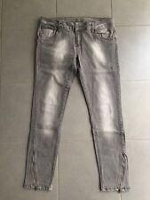 Jeans - da donna - marca NTX - grigio - vita bassa