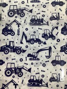 "New Microfiber Pillowcase Pair Heavy Equipment Tractors 20x30"" FREE SHIPPING"