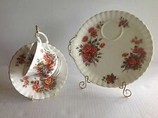 Royal Albert Centennial Rose 3 pieces set Snack Tray, Teacup and Saucer England