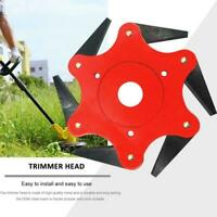 Outdoor 6 Steel Trimmer Head Blades Razors 65Mn Lawn Mower Grass Weed Cutter Red