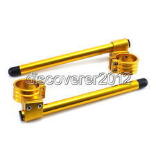 50MM Gold High Clip Ons On Handlebar for Yamaha YZF R1 1998-2011 Motorcycle