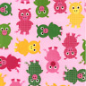 Urban Zoologie Pigs Piggy on Pink Robert Kaufman 100% cotton Fabric by the yard