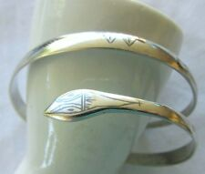 VTG STERLING SILVER SNAKE SERPENT BRACELET ARM  BAND BANGLE