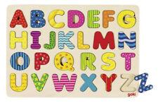 Goki Alphabetpuzzle Steckspiel Holz - 57672