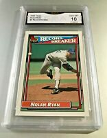 NOLAN RYAN (HOF) RECORD BREAKER 1992 Topps #4 GMA Graded 10 Gem Mint