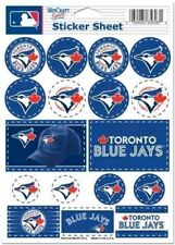 Toronto Blue Jays ~ Lot of (17) Stickers ~ 5x7 Inch Sheet