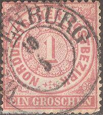 Norddeutscher Bund MiNr 16 ° Marke mit einem Zweikreistempel von Wittenburg 10 6
