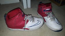 Nike red Lebron basketball shoes size 7