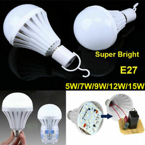 E27 Emergency LED Light Bulb Rechargeable Intelligent Lamp Light Bulb with Hook