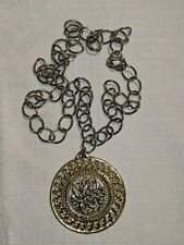 Beautiful Big Chain Necklace With Statement Pendant