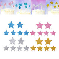 10PCS Handmade Star Cupcake Toppers Party Supplies Wedding Birthday Party Decor