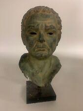 Vintage Roman Style Sculpture Bust Profile Head