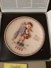 Goebel 1980 Annual 'Bas Relief' Collector's Plate, Free Shipping!