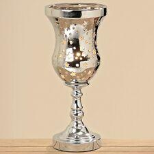 Moderne Design Tischleuchte Steingut silber Lampe Wohn Dekoration Neu
