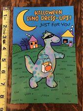 Paper Doll Greeting Card, Halloween Dinosaurs, Carlton Cards, Uncut