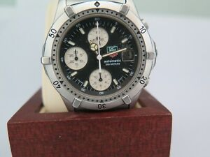 TAG Heuer 2000 CHRONOGRAPH  AUTOMATIC REF 860.306 BLACK VINTAGE 100% SWISS MADE