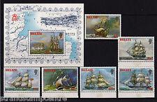 Belize - 1981 Sailing Ships - U/M - SG 671-6 + MS677