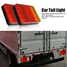 2x Waterproof Truck Trailer Boat LED Lamp Kit Tail Light Stop Indicator 12V New.