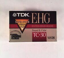 VHS-C Avilyn Blank Camcorder NEW TDK EHG TC-30