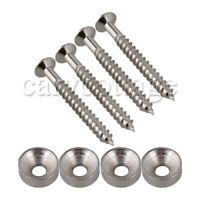 Black Neck Mounting Screw Bushings for Guitar//Bass AP-5260-003 4