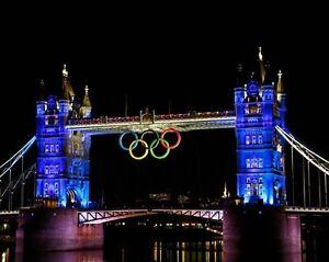 2012 Summer Olympics LONDON TOWER BRIDGE Glossy 11x14 Photo Print Poster