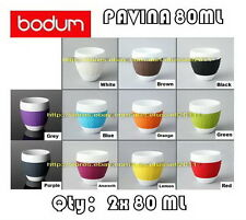IN BOX BODUM PAVINA PORCELAIN MUG WITH SILICONE BAND x2 80ML(11COLORS AVAILABLE)