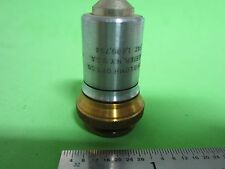 OPTICAL VINTAGE MICROSCOPE OBJECTIVE BAUSCH LOMB FLUORITE OPTICS BIN#40-81