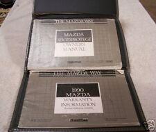 **LOOK** 1990 Mazda Protege 323 Owners Manual Set 90