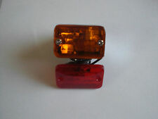 Queen Style Amber Red Marker Light Honda Goldwing Harley Davidson Touring 97020