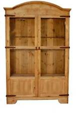 Rustic 12 Gun Cabinet Hunting Outdoors Western Gun Rack Real Wood Lockable  Door